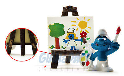 PUFFO PUFFI SMURF SMURFS SCHTROUMPF 4.0239 40239 Artist Easel Pittore 2A