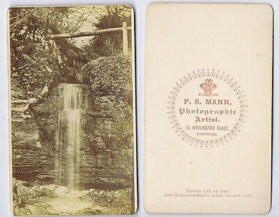 CDV Photograph The Ghyll Carte De Visite By Mann Of Hastings