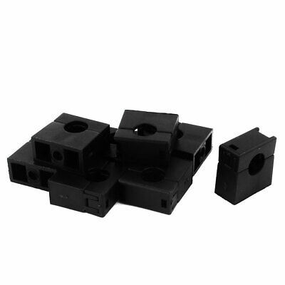 8pcs Black Fixed Mount Pipe Clip Bracket Clamp for 10mm Dia Corrugated Conduit