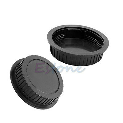 New Rear Lens Snap Cover + Camera Body Front Protector Cap for Canon DSLR SLR
