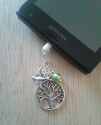 Tree of Life Dangle Charm For Mobile Phone. Tablet. Ipad. Iphone. Dust Plug.