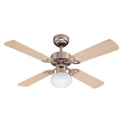 "Vegas 42"" Westinghouse Ceiling Fan and Light in Brushed Aluminium"