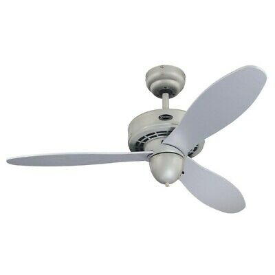 "Airplane 42"" Westinghouse Ceiling Fan Silver"
