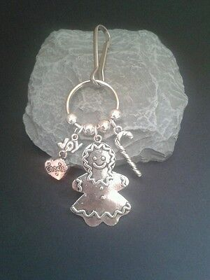 Christmas. Gingerbread Lady Key Ring/Bag charm.