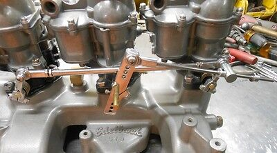 3x2 PROG. LINKAGE HOT ROD HOLLEY 94 FLATHEAD TRI POWER STAINLESS (OUR BEST)