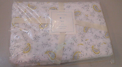 NIP Pottery Barn Kids Baby Yellow/Gray LARA Paisley Crib/Toddler Quilt