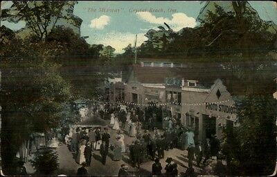 Crystal Beach Ontario The Midway c1910 Postcard