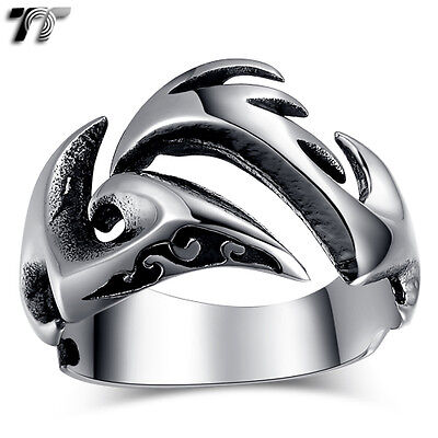 High Quality TT 316L Stainless Steel Pattern Ring Size 7-11 (RZ124) NEW