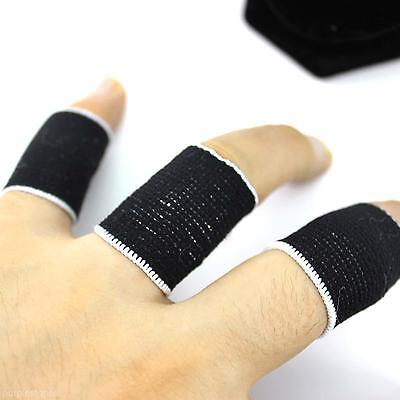 Portable Kids Sports Stretchy Finger Sleeve Fingerstall Relieving Injury 10pcs