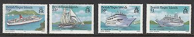BRITISH VIRGIN ISLANDS : 1986 Visiting Cruise Ships SG592-5 never-hinged mint