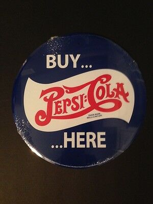 Buy Pepsi Cola Here~Soda~Tin/Metal Sign