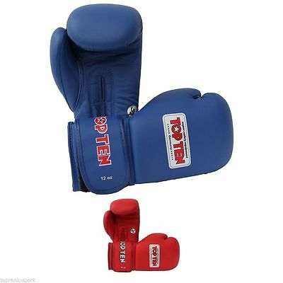 Top Ten AIBA Approved Boxing Gloves 10-12oz Blue Red Sparring Training