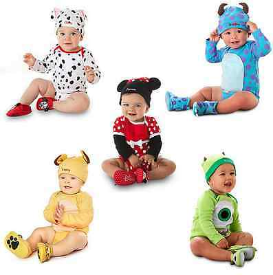 2pc New Baby Boys Girls Animal Costume triangle Bodysuit Romper +Hat Clothes set