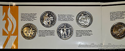 Gibraltar 1 Crown 1992 Olympic Games 8 Coin Lustrous Set in Original Holder.