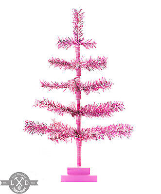 18 Pink Barbie Tinsel Tree Christmas Holiday Tree 1 5ft Table Top Xm