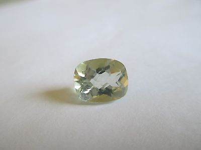 6.08ct Loose Antique Cut Light Green Quartz Gemstone 14 x 10mm
