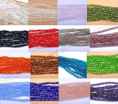 Wholesale 100Pcs 18 Colors Czech Crystal Loose Beads 4MM 6MM Free Ship