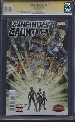 Infinity Gauntlet #1__CGC 9.8 SS__Signed by Stan 'The Man' Lee