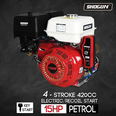 15HP Petrol Gasoline  Engine 4 Stroke Stationary Motor Electric  Recoil Start