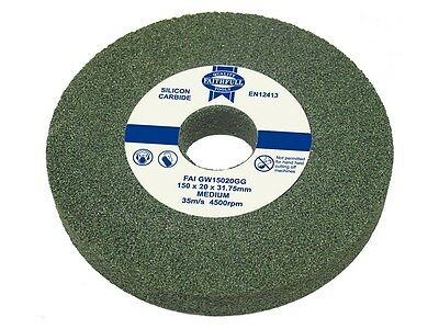 FAITHFULL GREEN GRIT SILLICON CARBIDE BENCH GRINDER GRINDING WHEELS - All Sizes