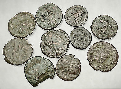 250-450AD Group Lot of 10 Authentic Ancient ROMAN Coins Collection KIT i51264