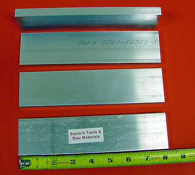 "4 Pieces 5/8"" X 2"" ALUMINUM 6061 FLAT BAR 8"" long T6511 Solid Plate Mill Stock"