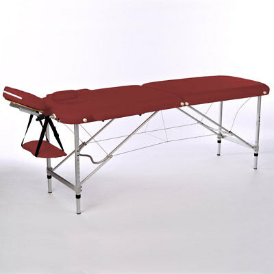 Aluminium Lightweight 10Kg ! Portable Massage Table Red