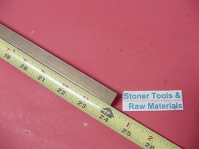 "1/2"" x 1/2"" C360 BRASS SQUARE BAR 24"" long Solid .50"" Flat Mill Stock H02"
