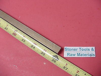 "1/2"" x 1/2"" C360 BRASS SQUARE BAR 36"" long Solid .50"" Flat Mill Stock H02"