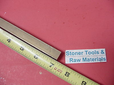 "1/2"" x 1/2"" C360 BRASS SQUARE BAR 7"" long Solid .50"" Flat Mill Stock H02"