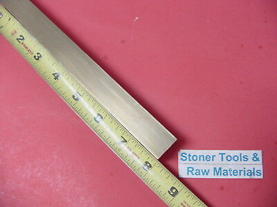 """1/2"""" x 1/2"""" C360 BRASS SQUARE BAR 8"""" long Solid .50"""" Flat Mill Stock H02"""