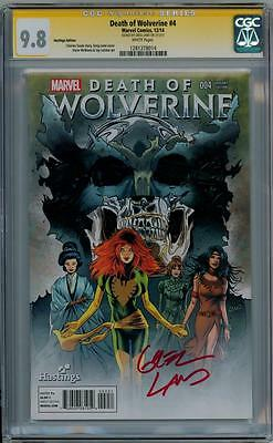 Death Of Wolverine #4 Hastings Variant Cgc 9.8 Signature Series Signed Greg Land