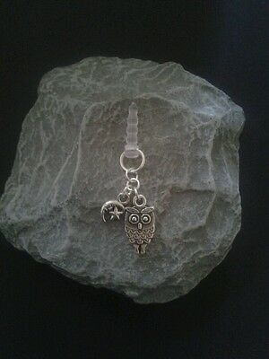 Owl Dangle Charm For Mobile Phone. Tablet. Ipad. Iphone. Dust Plug.