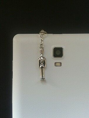 Toy/Tin Soldier. Christmas Nutcracker Dangle Charm For Mobile Phone.