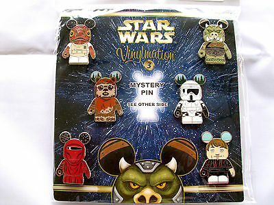 Disney * VINYLMATION STAR WARS * Series #3 - Booster 7 pin set with Chaser MIP
