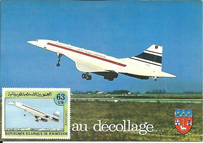 Cartolina MAXIMUM Mauritania Concorde
