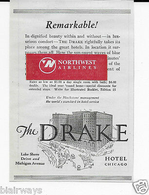 The Drake Hotel Chicago 1929 Remarkable! Among The Great Hotels $5 A Night Ad