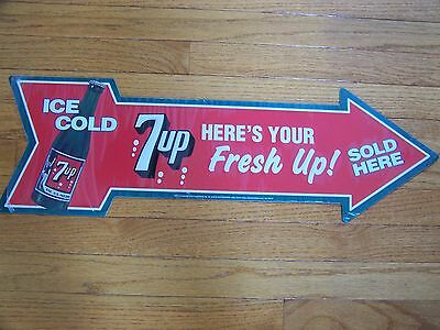 7-Up vintage look tin sign NEW NEVER DISPLAYED
