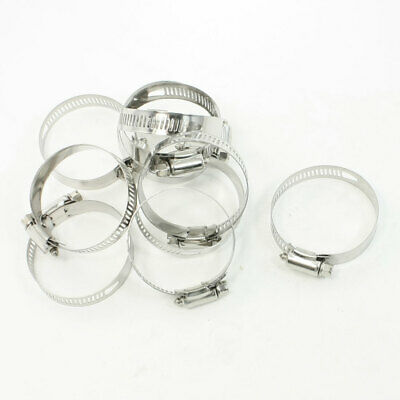 10pcs 33mm-57mm Adjustable Stainless Steel Worm Drive Hose Clamp