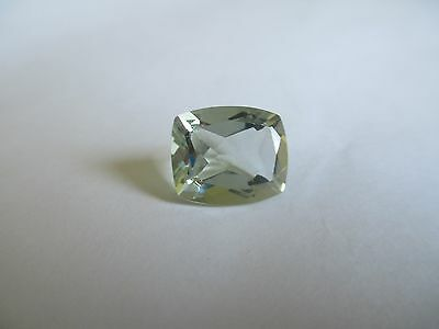 1.91ct Loose Antique Square Cut Light Green Quartz Gemstone 9 x 7mm