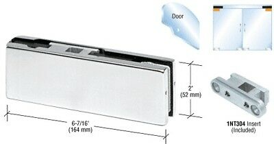 Satin Anodized Top Door Patch Fitting with 1NT304 Insert