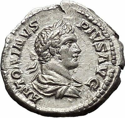 CARACALLA 201AD Silver Ancient Roman Coin Felicitas Good luck Cult  i51143