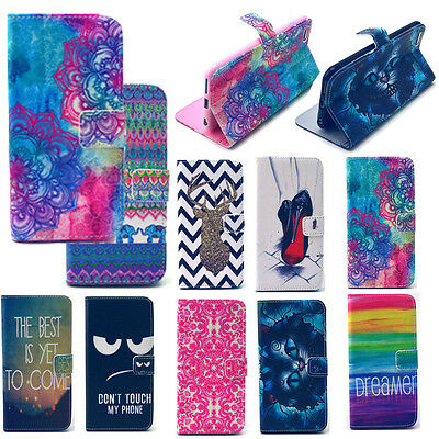 For iPhone Case 4 5 5C 6 6Plus Stand Flip Leather Wallet Cover Card Slot Pattern
