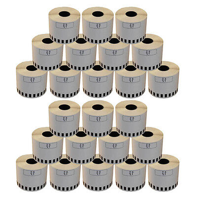 24 REFILL ROLLS DK22205 BROTHER COMPATIBLE CONTINUOUS LABEL 62mmx30.48m DK 22205