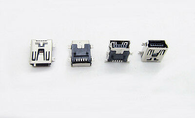 Micro USB Type B Female 5Pin Socket 4 Legs SMT SMD Soldering Connector UK (B44)
