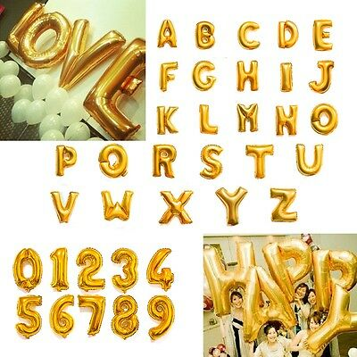"""42"""" Inch Large Giant Foil Letter Number Balloons Golden Silver Party Decoration"""