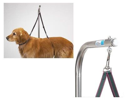 Nylon Grooming Table Harness For Dogs 27 Inches Adjustable Double Dog Noose