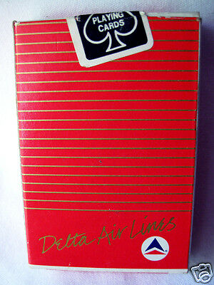 Deck of Playing Cards Delta Air Lines Red Sealed Box Made in Taiwan