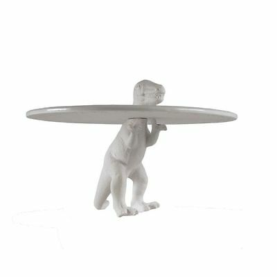Sauria Trex T-Rex Dinosaur Porcelain Cake Stand Display Plate by Seletti