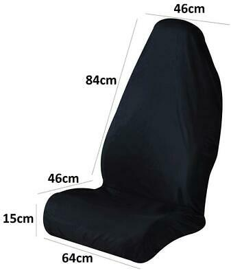 Vehicle Essential Front Of Waterproof Car Seat Cover / Protector Black